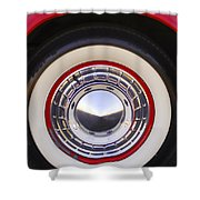 1955 Chevrolet Nomad Wheel Shower Curtain