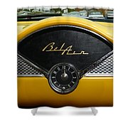 1955 Chevy Belair Clock Shower Curtain