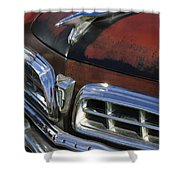1955 Chrysler Hood Ornament Shower Curtain