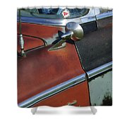 1955 Chrysler Windsor Deluxe Emblem Shower Curtain