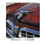 1955 Chrysler Windsor Deluxe Hood Ornament Shower Curtain