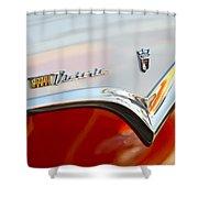 1955 Ford Fairlane Crown Victoria Emblem Shower Curtain