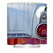 1955 Ford Fairlane Fordomatic Taillight Shower Curtain