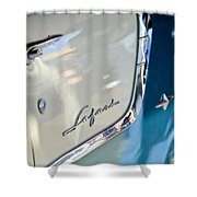 1955 Pontiac Safari Station Wagon Emblem Shower Curtain