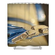 1955 Pontiac Star Chief Hood Ornament  Shower Curtain