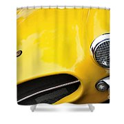 1956 Buckle Gt Coupe - Badge Grill Headlight Shower Curtain