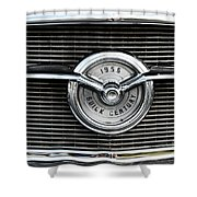 1956 Buick Century Grill Emblem Shower Curtain