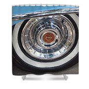 1956 Cadillac Front Wheel Shower Curtain