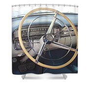 1956 Cadillac Steering Wheel And Dash Shower Curtain