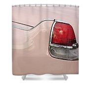 1956 Cadillac Taillight Shower Curtain