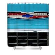 1956 Chevrolet Belair Nomad Grille Emblem Shower Curtain