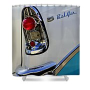 1956 Chevrolet Belair Taillight Emblem Shower Curtain