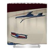 1956 Chevrolet Hood Ornament 5 Shower Curtain