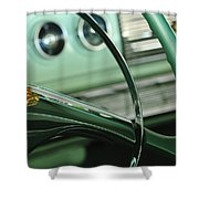 1956 Dodge Coronet Steering Wheel Shower Curtain