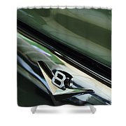 1956 Ford F-100 Truck Emblem 3 Shower Curtain