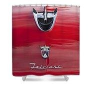 1956 Ford Fairlane Hood Ornament 7 Shower Curtain