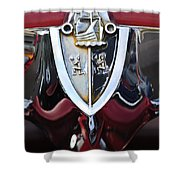 1956 Plymouth Emblem Shower Curtain
