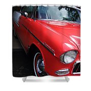 1956 Red And White Chevy Shower Curtain
