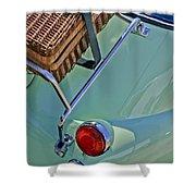 1957 Bmw Isetta 300 Motocoupe Taillight Shower Curtain
