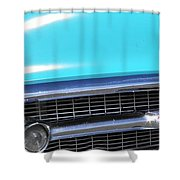 1957 Chevrolet Bel Air Classic Car Panoramic Fine Art Photo  Shower Curtain