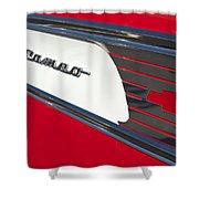1957 Chevrolet Cameo Pickup Emblem Shower Curtain