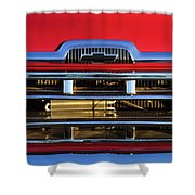 1957 Chevrolet Pickup Truck Grille Emblem Shower Curtain by Jill Reger