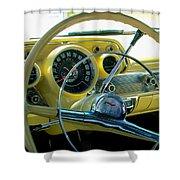 1957 Chevy Bel Air Dash Shower Curtain