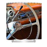 1957 Chevy Dash Shower Curtain
