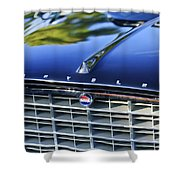 1957 Chrysler 300c Grille Emblem Shower Curtain