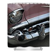 1957 Coral Chevy Bel Air Shower Curtain