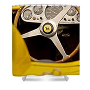 1957 Ferrari 500 Trc Scaglietti Spyder Steering Wheel Shower Curtain