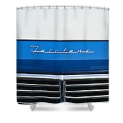 1957 Ford Fairlane Grille Emblem Shower Curtain