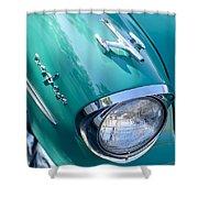 1957 Oldsmobile 98 Starfire Convertible Fender Spear Shower Curtain