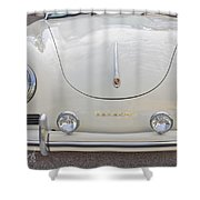 1957 Porsche Speedster Antique Car Shower Curtain