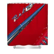 1958 Chevrolet Belair Emblem Shower Curtain