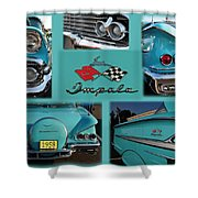1958 Chevy Impala Shower Curtain