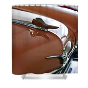 1958 Chrysler Imperial Hood Ornament Shower Curtain