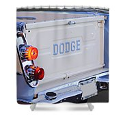 1958 Dodge Sweptside Pickup Taillight Shower Curtain