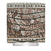 1958 Lincoln-douglas Debates Stamp Shower Curtain