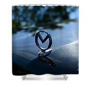 1958 Mercury Park Lane Hood Ornament Shower Curtain