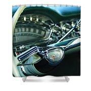 1958 Oldsmobile 98 Steering Wheel Shower Curtain