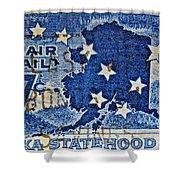 1959 Alaska Statehood Stamp Shower Curtain