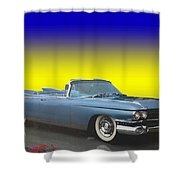 1959 Cadillac Convertible Eldorado Biarritz Shower Curtain