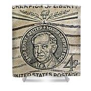 1959 Champion Of Liberty Stamp Shower Curtain