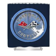 1959 Chevrolet Corvette Emblem Shower Curtain