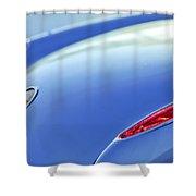 1959 Chevrolet Corvette Taillight Emblem Shower Curtain