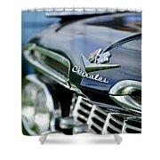 1959 Chevrolet Grille Emblem Shower Curtain