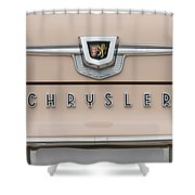 1959 Chrysler New Yorker Emblem Shower Curtain