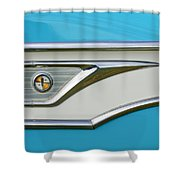 1959 Edsel Corvair Side Emblem Shower Curtain