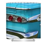 1959 Edsel Corvair Taillights Shower Curtain